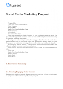 proposals social media marketing proposal ate digital pdf social media management proposal template excel
