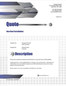 roofing contractor sample proposal  5 steps roofing bid proposal template doc