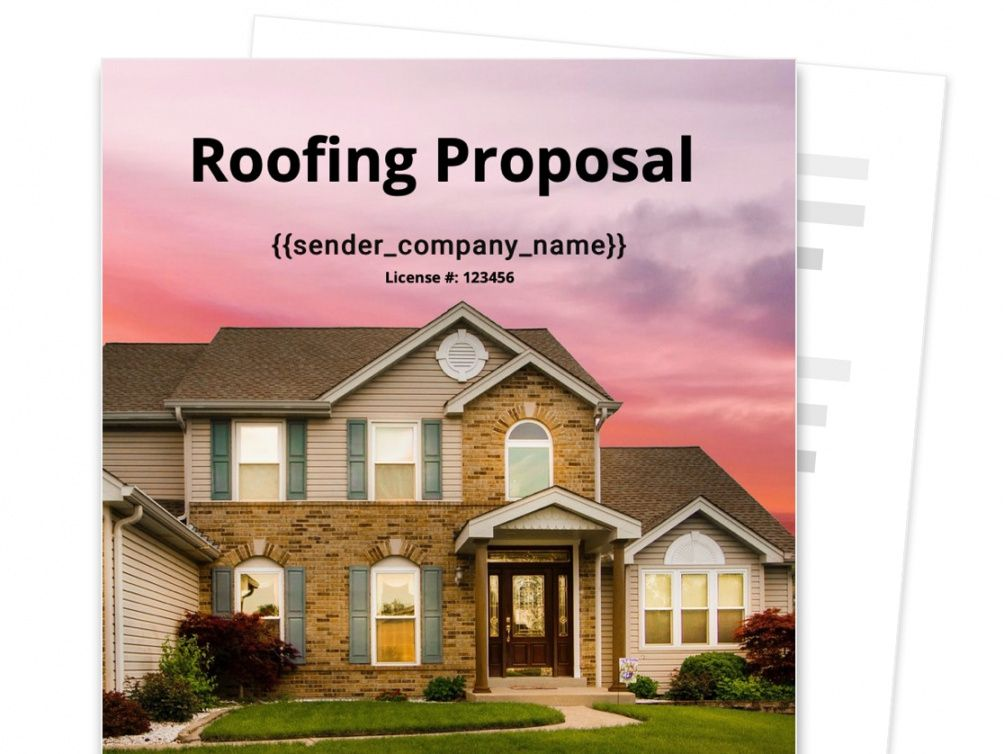 roofing proposal template  free sample  proposable roofing bid proposal template word