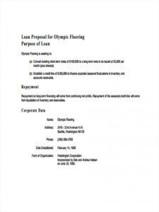 sample 11 loan proposal examples  personal construction small real estate loan proposal template