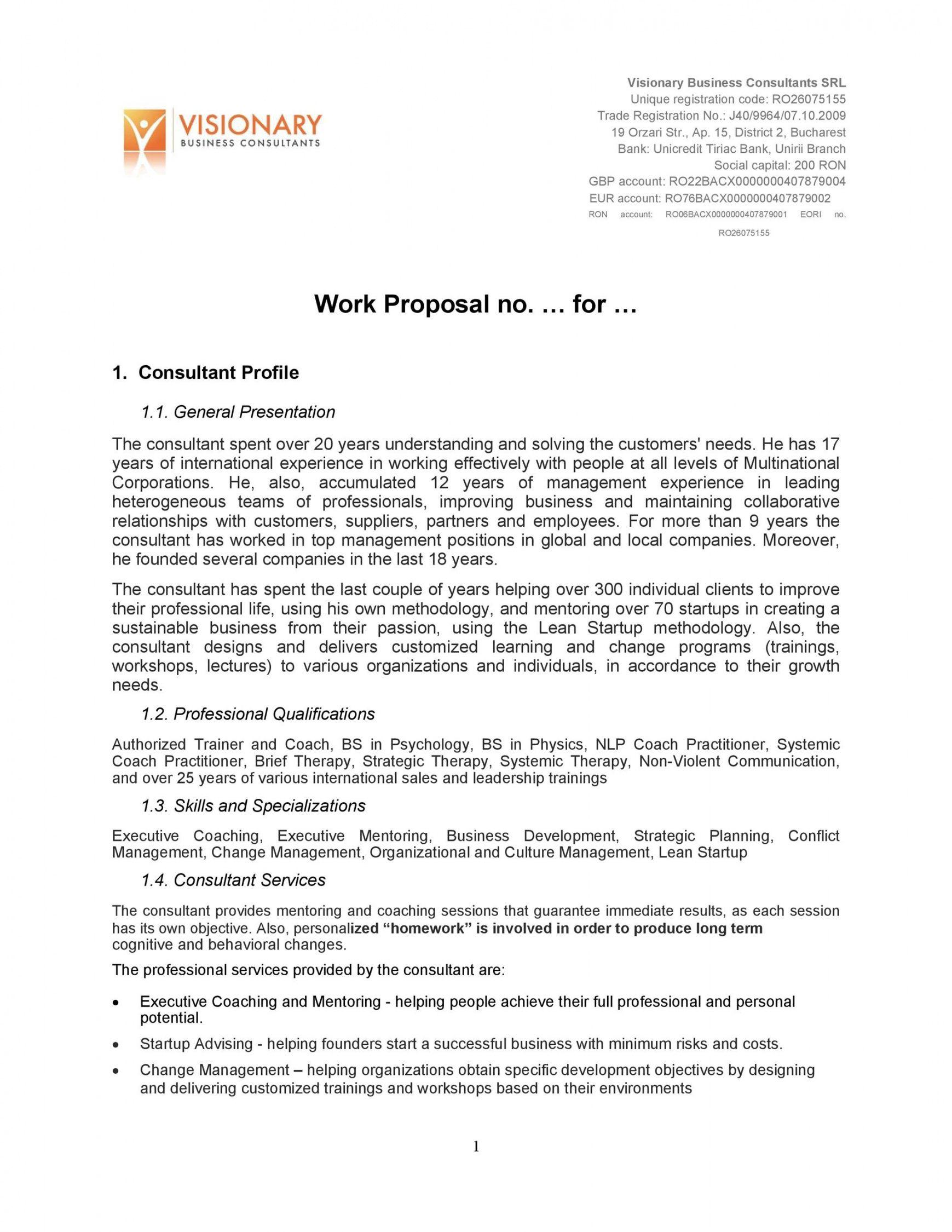 sample 43 best job proposal templates free download  templatelab trade proposal template doc
