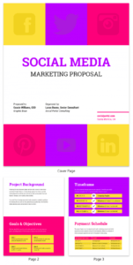 sample bold social media consulting proposal template social media campaign proposal template word