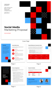sample checkered social media marketing proposal template social media campaign proposal template doc