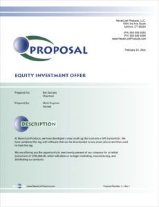sample equity ownership stake sample proposal  5 steps angel investor proposal template pdf