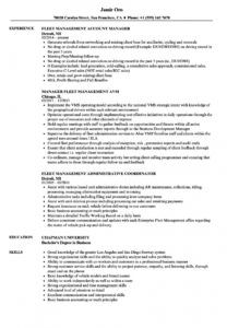 sample fleet management resume samples  velvet jobs fleet management proposal template excel