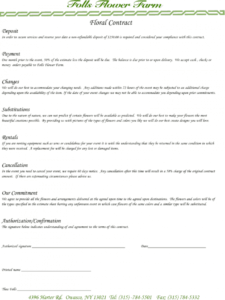 sample florist contract template  create and download in just 2 florist wedding proposal template