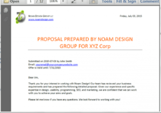 sample generate customized proposals from salesforce  formstack salesforce proposal template word