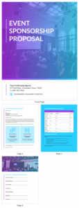 sample gradient event sponsorship proposal template event sponsorship proposal template word