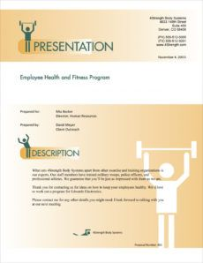 sample health and fitness program sample proposal  5 steps corporate fitness proposal template word
