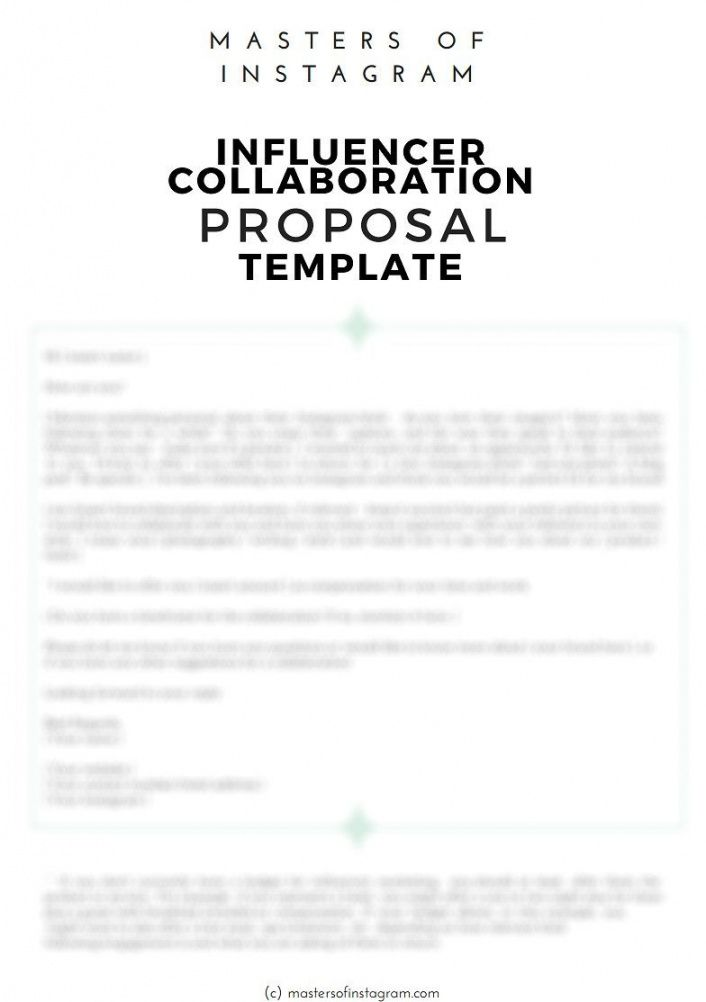 sample influencer marketing proposal template  download  bonsai influencer marketing proposal template example