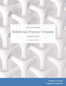 sample mobile app development proposal template with sample mobile app development proposal template pdf