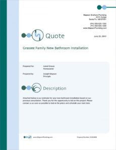 sample plumber services sample proposal  5 steps masonry bid proposal template word