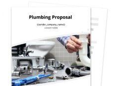 sample plumbing proposal template  free sample  proposable plumbing proposal template word