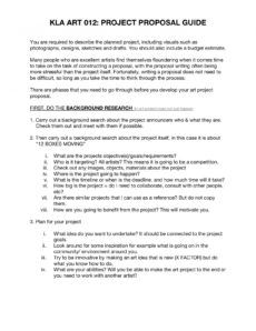 sample project proposal guide  kampala contemporary art festival art project proposal template example