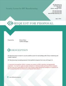 sample request for proposal rfp sample  5 steps security system proposal template doc