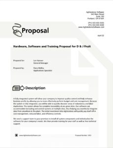 sample software and hardware system sample proposal  5 steps software training proposal template excel