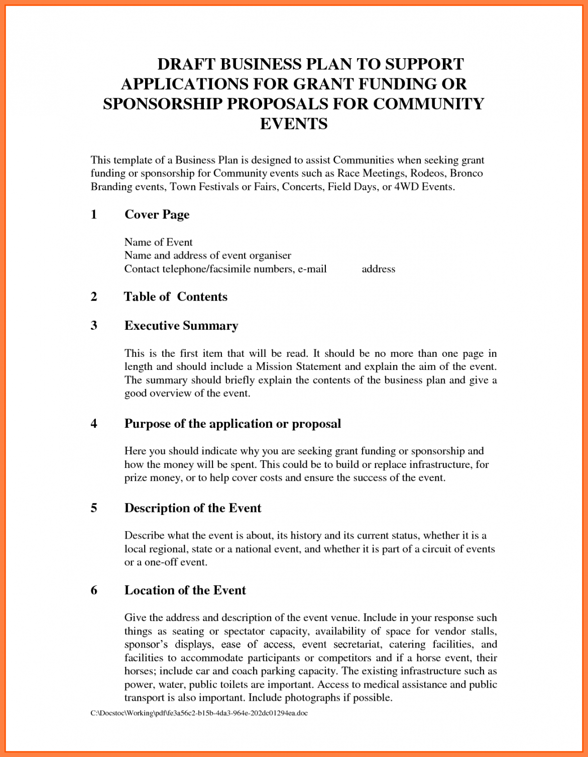 sample sponsorship proposal pdf package for nonprofit music athlete sponsorship proposal template