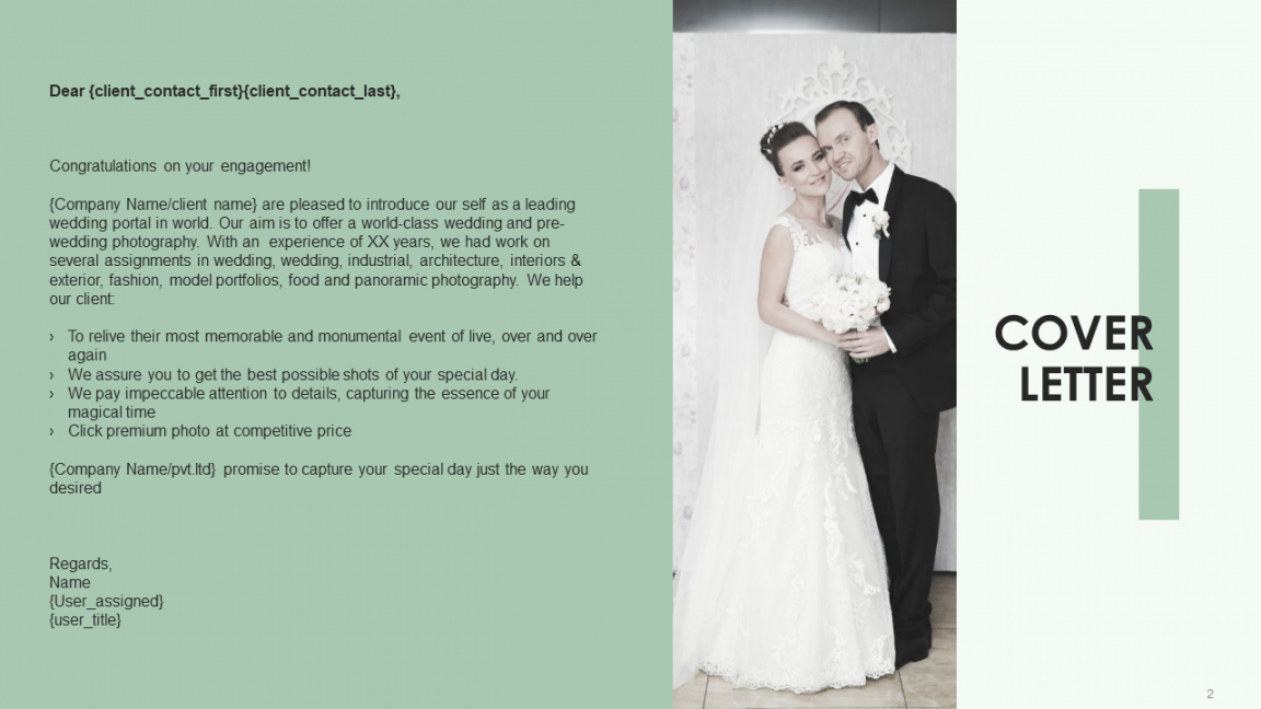 sample wedding photography proposal template to get hired  the wedding photography proposal template word