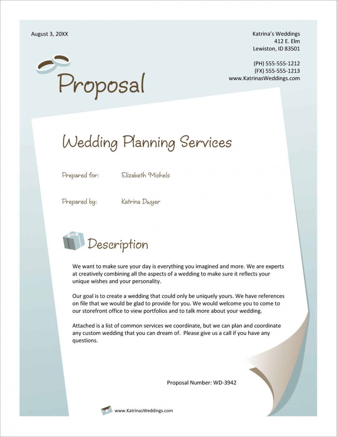 sample wedding planner services sample proposal  5 steps wedding planning proposal template