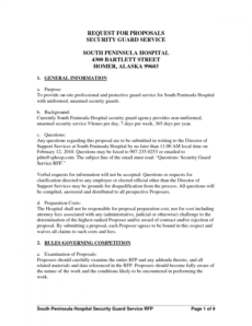 security services proposal cover letter security guard service proposal template