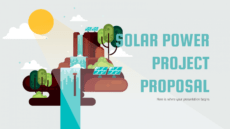 solar power project proposal google slides and powerpoint solar proposal template excel