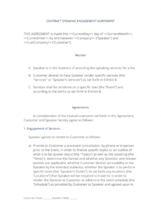 speaking engagement contract  3 easy steps speaking engagement proposal template word