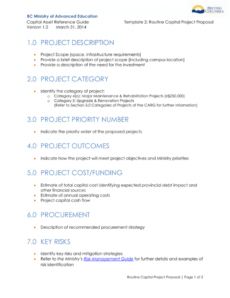 template 2  routine capital project proposal it infrastructure upgrade proposal template