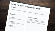 the best creative brief template for video creatives free video production proposal template