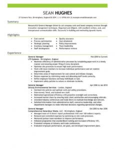 11 amazing management resume examples  livecareer management position resume template