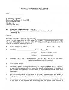 12 purchase proposal examples in pdf  ms word  pages real estate purchase proposal template word