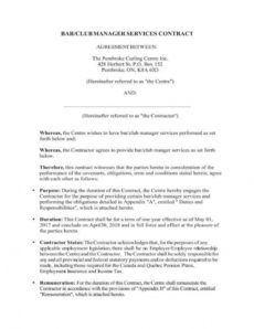 5 bartending services contract templates  pdf  free restaurant management contract template doc
