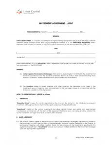 editable 12 free real estate investment agreement examples  doc asset management agreement template excel