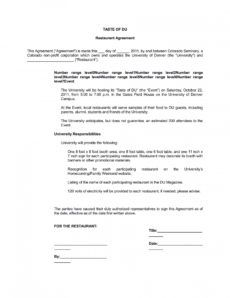 editable free 6 restaurant business paperwork in pdf  ms word restaurant management contract template