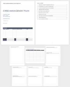 editable free crisis management templates  smartsheet crisis management policy template example