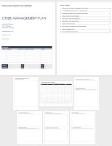 editable free crisis management templates  smartsheet crisis management policy template example