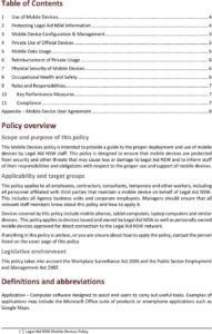 editable mobile devices policy  pdf free download mobile device management policy template excel