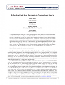 editable pdf enforcing club seat contracts in professional sports sports management contract template excel