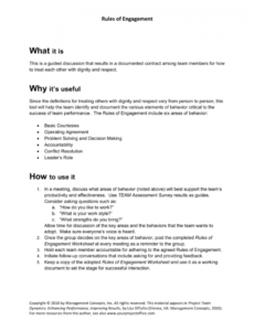 editable project management rules of engagement tools and templates project management rules of engagement template doc