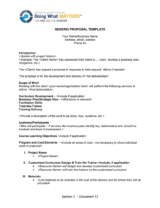 editable section 2  document 12 generic proposal template generic business proposal template doc
