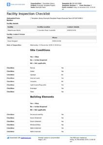 facility inspection checklist template better than excel facility management report template excel