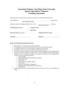 free 13 sports coach contract example templates  docs word sports management contract template excel