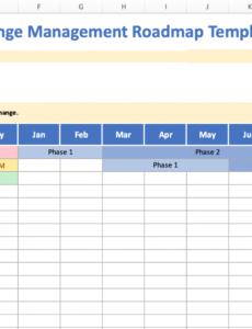 free change management roadmap online software tools & templates change management roadmap template pdf