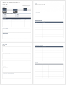 free crisis management templates  smartsheet crisis management policy template example