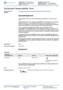 free employee equipment responsibility form free and editable asset management agreement template excel