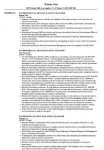 free environmental health & safety manager resume samples environmental health and safety management system template