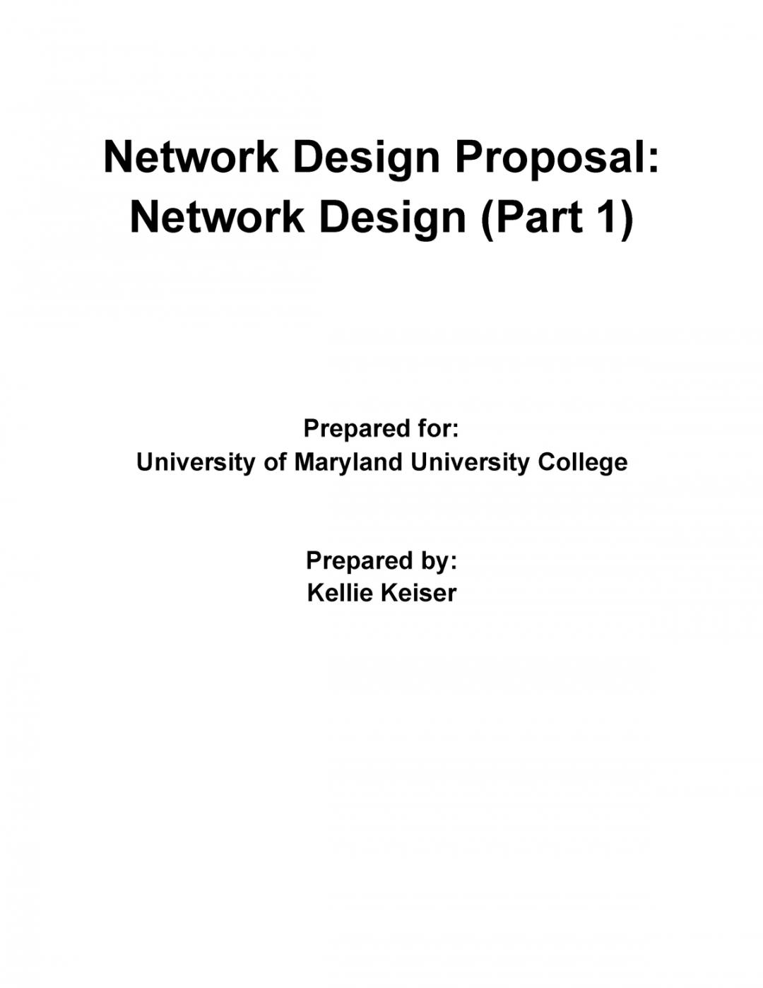 free network design proposal part 1  cmit 265  umuc  studocu network design proposal template example