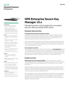 hpe enterprise secure key manager v5x data sheet  manualzz encryption key management policy template