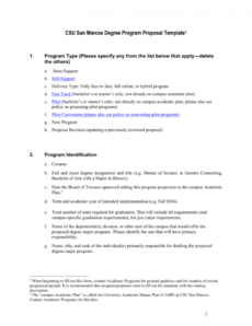 new program proposal template  california state university san library program proposal template example