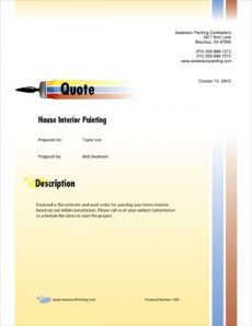 painting contractor sample proposal  5 steps painting job proposal template example