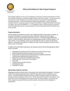 policy and guidelines for new program proposals library program proposal template word